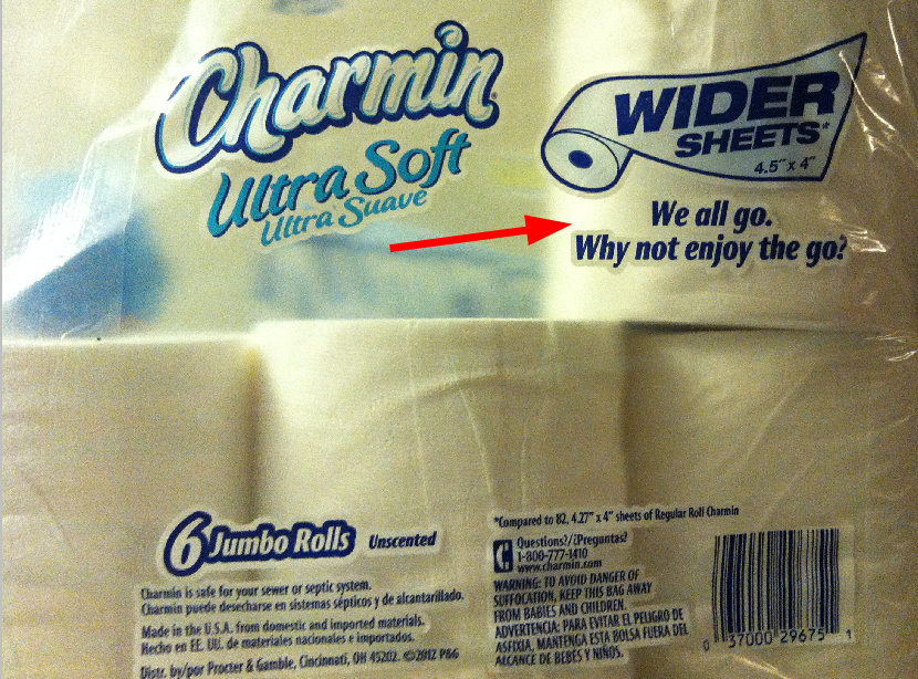 Charmin Ultra Soft Toilet Paper: worst advertising slogan