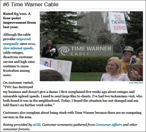 Time Warner Cable Quote: TIME WARNER CABLE: YOU WILL BE SO PLEASED WITH AVOIDING
