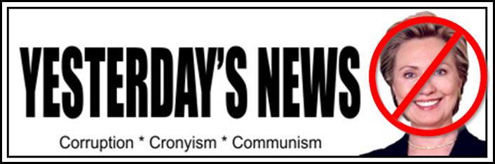 HILLARY CLINTON BUMPER STICKER 2016 YESTERDAY'S NEWS