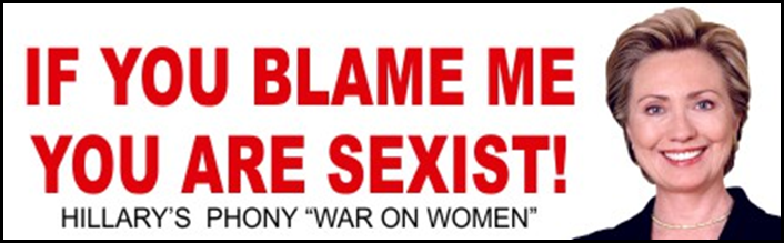 HILLARY CLINTON BUMPER STICKER 2016 SEXIST