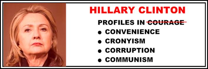 HILLARY CLINTON BUMPER STICKER 2016 PROFILES IN CONVENIENCE, CRONYISM, CORRUPTION