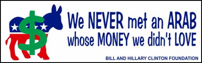 HILLARY CLINTON 2016 BUMPER STICKER - ARAB MONEY