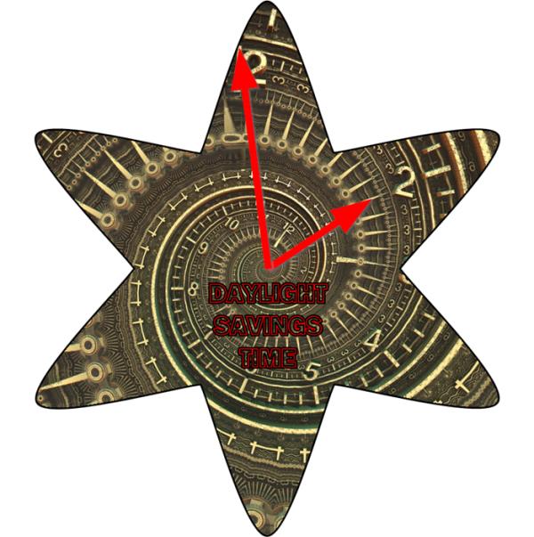 DAYLIGHT SAVING TIME -- MARCH 8, 2020